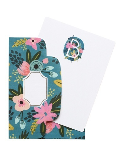 B Harfli Monogram Kart 8'li-Rifle Paper Co.